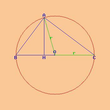 how to solve an isosceles triangle equation