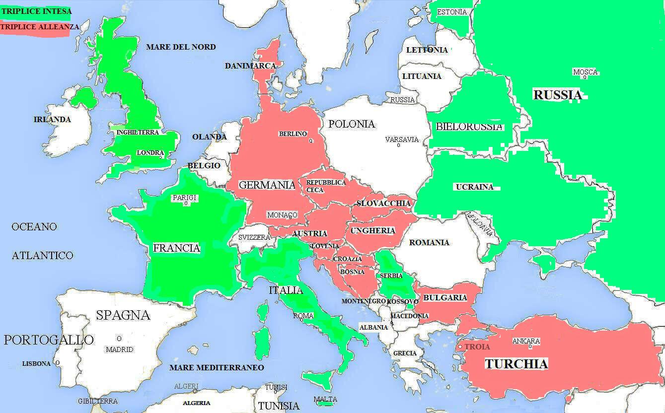 La Prima Guerra Mondiale Cartina.La Prima Guerra Mondiale Storia Per Terza Media